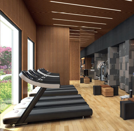 Gymnasium-residential flats in gurgaon